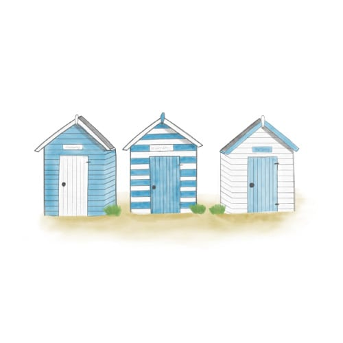Beach huts to hire in Southwold