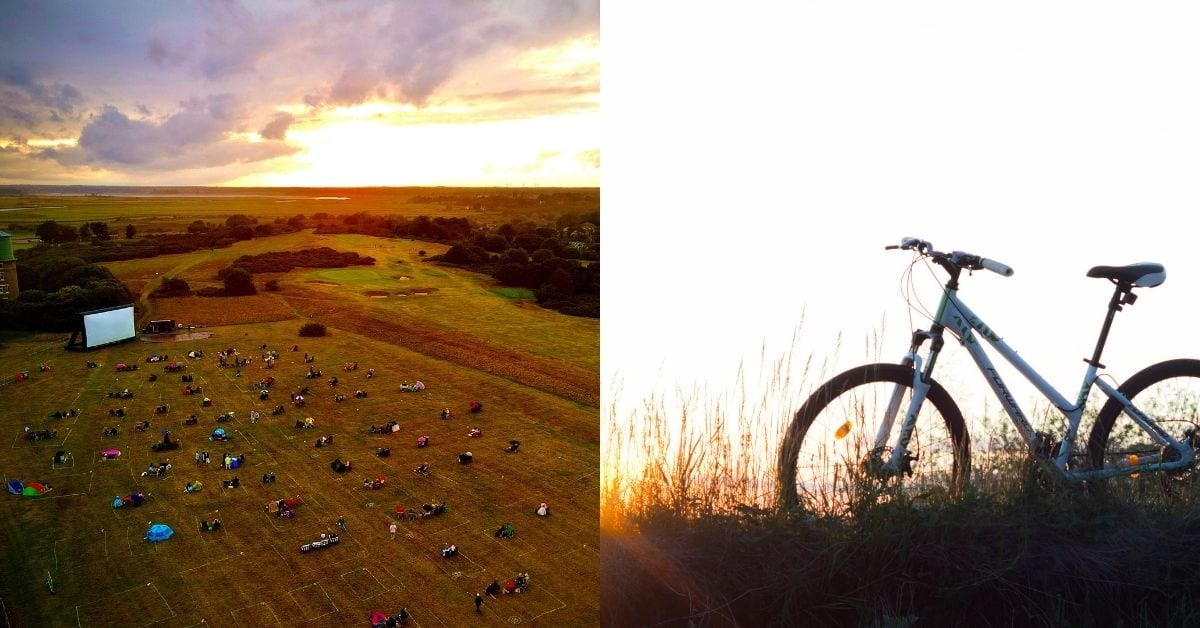 cinema and cycling in Southwold